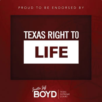 Endorsement for Justice Jeff Boyd