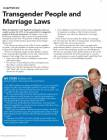 Transgender People and Marriage Laws