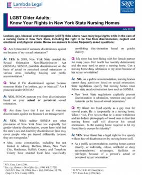 Lgbt Older Adults Know Your Rights In New York State