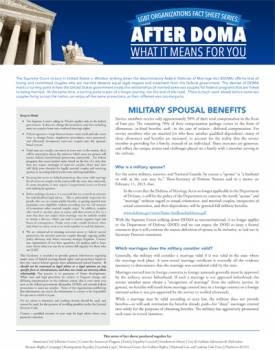 military benefits for spouses