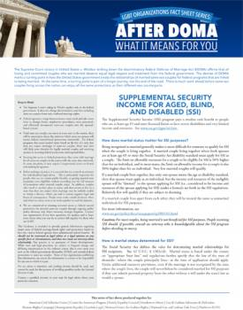 After DOMA: Supplemental Security Income for Aged, Blind, and